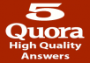 promote your website on Quora Answers