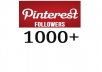 add 1,000 Pinterest Followers to your account