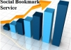 provide social bookmarking service to your web site to top 20 high PR sites manually