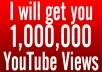 provide you 7000 to 10,000 Organic YouTube views on your Video from Facebook or Twitter..!!..!!!