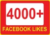 4000+ Facebook Likes or facebook Fan Page likes within 48 hours