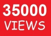 give you guaranteed 35,000 youtube views to your youtube video, all views deliver within 48 hours...!!!!