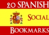 submit manually Top 20 SPANISH Social Bookmarking Sites