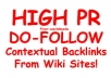 ★ Highly Rated Seller ★ create 105+ DOFOLLOW Contextual Backlinks from 35+ Wiki sites