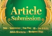 spin and Submit to 1000 Article Submission Directories and blogs, 160 Instant Backlinks, 80 Live URLs *