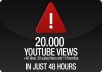 will get you 20000+ Very Fast youtube views, 15+ likes, 30+ subscribers, 10+ favorites, all in one package to boost your video