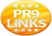 create 10 pr9 backlinks (dofollow) plus ping all links