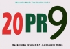 manually create 20 back links from PR9 Authority Sites back to your website + Google Panda/Penguin Safe no software or Bots used 