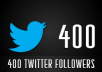 give 400 real Twitter followers from usa, canada and uk
