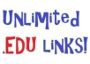 manually create 12 high PR panda safe edu links for your websites with proof~~!~~