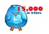 get you 15,000+ Twitter FOLLOWERS that you can split between 2 accounts or put all on one in less than 24 hours