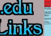 manually build and ping 15 Panda safe high PR dofollow permanent and very effective edulinks for your website..!@