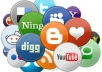 provide you 250+ social bookmarks + Rss + Ping with full Report, gain rankings with social bookmarking service!@