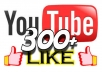 give you 300+ youtube likes no fake,no bot within 24hrs