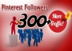 give you 300+ pinterest followers no fake,no bot within 24hrs