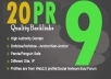 Manually create 20 backlinks from PR9 Authority Sites back to your website ★Google Panda/Penguin Safe★