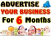 promote your business or Website via Ads or banner on my site (Guaranteed 50 to100+ daily visitors) for 2 Months 