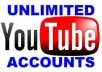 provide you legal 15 phone verified youtube accounts in 24 hours