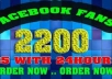 provide you with 2200 likes in your facebook fanpage within 24 hours