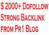 add 2000+ strong dofollow backlinks to 2000+ posts at pr1 seo blog