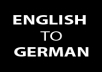 translate english to german (max. ~ 1000 words)