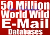 Give You 50 Million E-Mails Database of UK,India,Canada,Australia