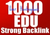 Get You SEO 1000 EDU Backlinks For Your Website