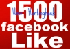 Get You 1500+ Verified Fake Facebook Like On Any of Your Page Guaranteed