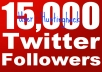 Get You 15,000 Real Looking Twitter Followers to Your Account Just Within 12Hr