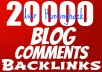 Get You 20,000 MASSIVE ScrapeBox Blast Backlinks For Your Site