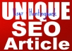 Give 10 UNIQUE SEO Articles That Pass Copyscape &amp; Duplichecker Test