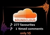 add 120 REAL favourites and 1 timed comments Soundcloud for your Tracks and Start Getting More Fan....!@!@