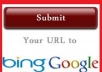 submit 3 0f your Site/Blog MANUALLY To top  Search engines and Create 1700 Backlinks and Ping  