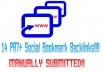 manually submit your website to 14 PR7+ social bookmarking sites