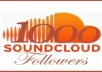 get you 1000+ Soundcloud Followers To Your Profile within 72 Hours To Improve Your Profile Ratings with fully satisfaction