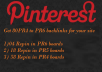 generate 80 PR6 to PR4 Backlinks for your website through Pin and Repin in my board