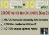 reate 10 Dofollow Edu Blogs LinkWheel + 30 Edu Wiiki + 2000 Tier2 Wiki Backlinks Pointed on them !!~!!