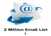 Give you 20 Million Emails List for Marketing