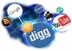 build MANUALLY a linkwheel on 20 web2 + 20 social bookmarking + 10 forum profile links