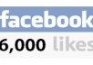 give 6000+ High Quality Real, Active and Permanent Facebook Likes or Fans to your facebook fan Page, all likes deliver within 1 day