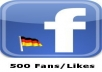 provide 500 German facebook like or 500 german photo like