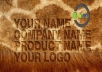 write your name, company, title or whatever on different furs