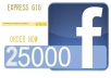 provide you 25000 GUARANTEED real &active facebook fans likes Without Admin Access