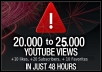 give you 20,000 to 25,000+ YouTube Views, 10 + likes, 20+ subscribers, 10+ favorites and 1000+ YouTube Likes [with Gig Extra] ..!!!!!!!!