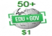 create 50+ Contextual WIKI Backlinks from EDU &amp; GOV Wiki domains