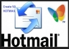 give you 200 hotmail id with english name,fresh and with full details