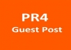 publish your high quality original article on my PR4 economy niche website giving you a permanent backlink for