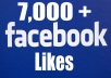 give 7000+ Top Quality Real Active and Permanent Facebook Likes or Fans to your facebook fan Page all likes deliver with in 2 days