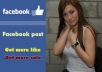use real account facebook* post your website 15 times to over 10,500,000 friend in my fb group + post link to 500 forum,website with PR3,PR8 *