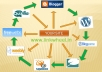 will build a LINKWHEEL with 6 High pr Blog Manually And 3000 BACKLINKS